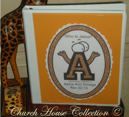 ABC's Whoe Is Jesus Binder Template Sunday School Craft White Binder With Clear Front Pocket Template
