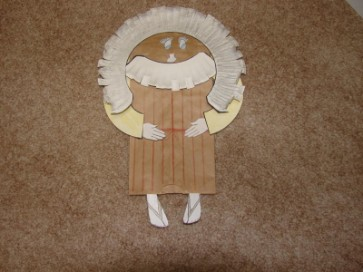 Abraham Paper Bag Puppet Craft