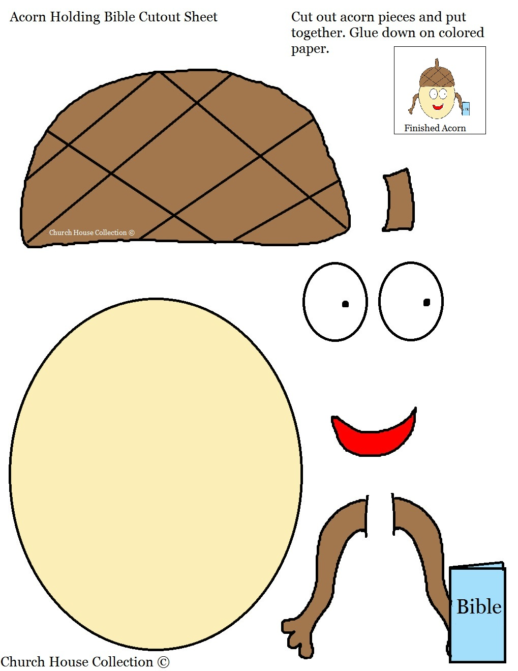 acorn holding bible cutout sheet for kids 2 jpg