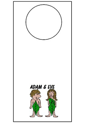 Adam and Eve Doorknob Hanger