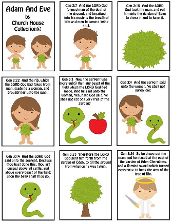 Adam and Eve Free Mini Booklet Printable -Sunday School Crafts For Kids