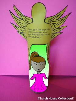 Angel of the Lord Toilet Paper Roll Craft For Sunday School