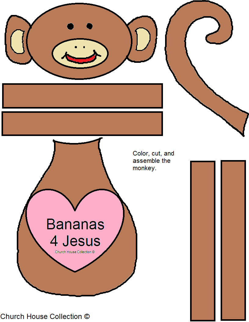 Monkey Template Cut Out