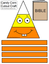 Candy Corn With Bible Cutout Craft For Kids