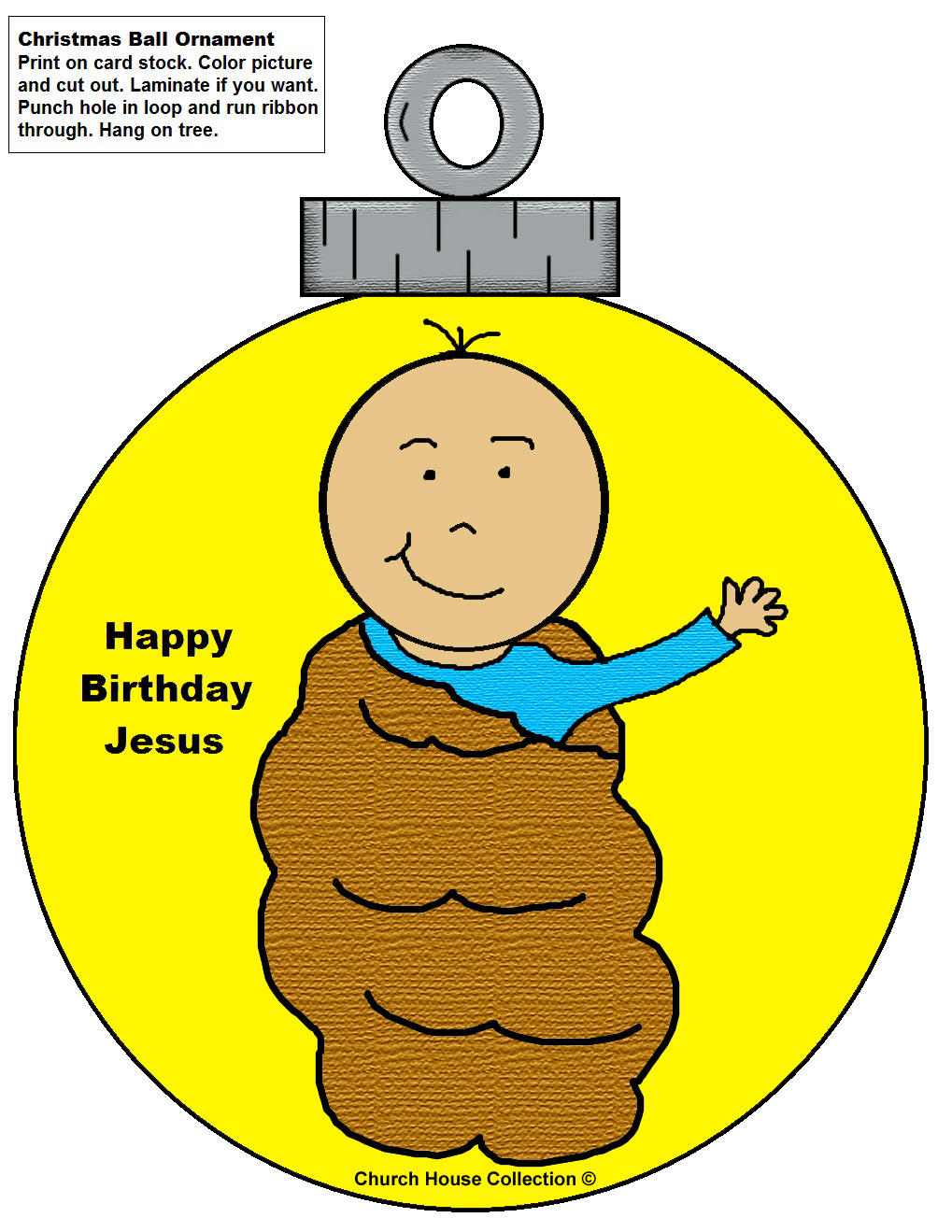 image about Printable Christmas Decorations Cutouts referred to as Little one Jesus Ornament Cutouts Craft