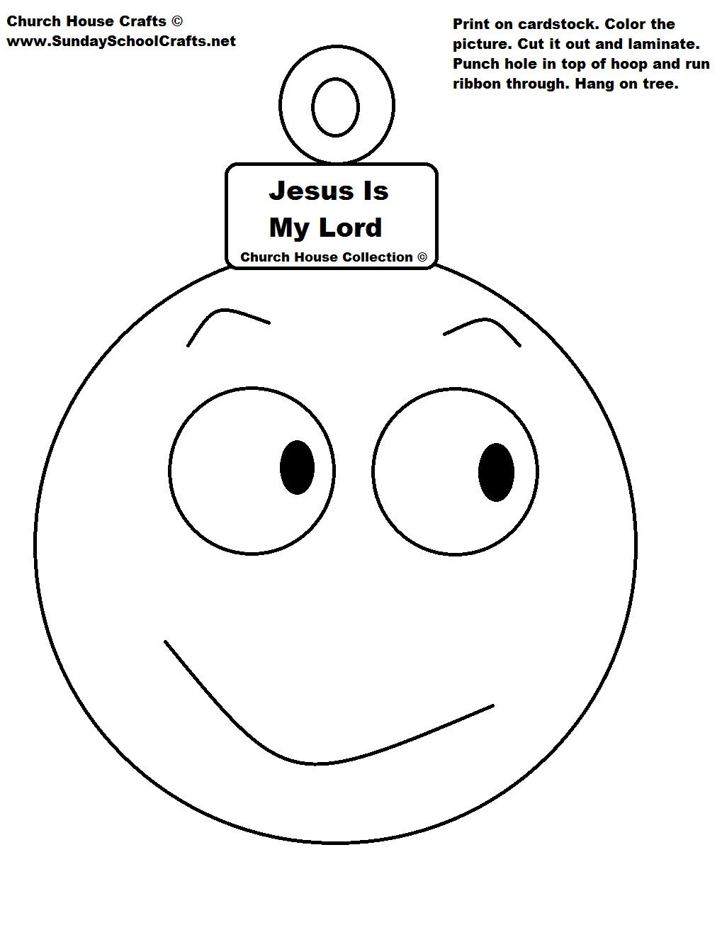 Jesus Is My Lord Christmas Ball Ornament Cutout