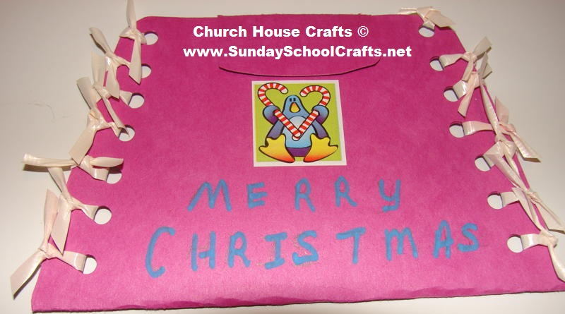 No sew Christmas Pouch For Kids