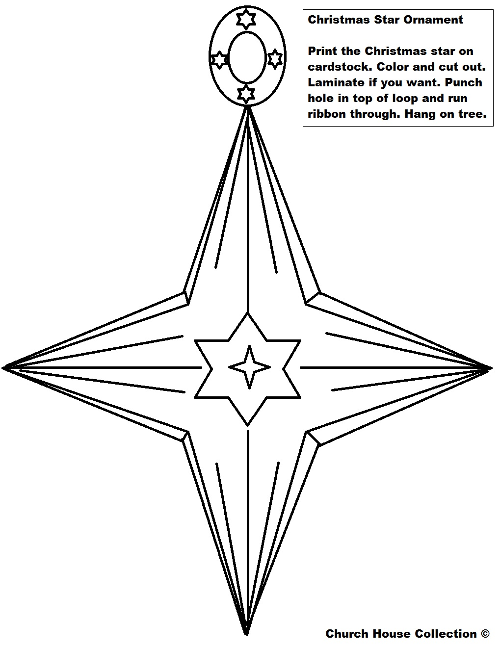 christmas star ornament cutout star ornament printable version - Cut Out Christmas Decorations