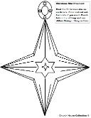 Christmas star ornament cutout sunday school children's church kids
