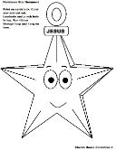 Christmas Jesus Star Ornament Cutout For Sunday school children's church kids