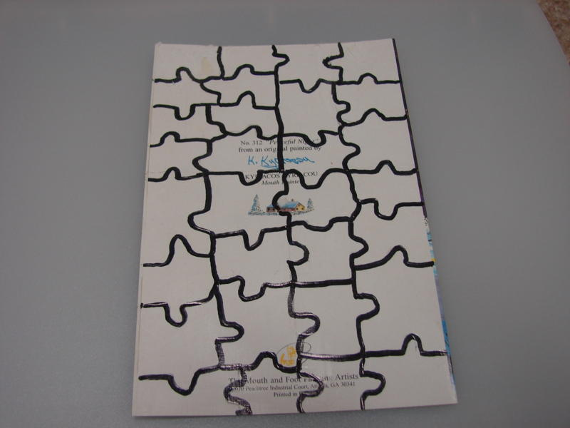 Christmas Card Puzzle Craft