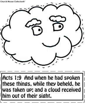 Cloud Cutout Activity Sheet Acts 1:9