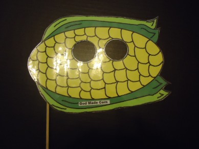 God Made Corn Face Mask Craft