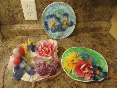 Paper Plate Flower Hats