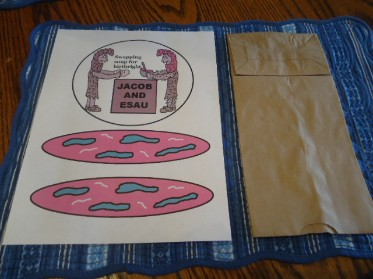Jacob and Esau Paper Lunch bag Craft
