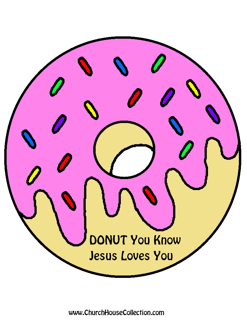 Donut You Know Jesus Loves You Printable Cutout