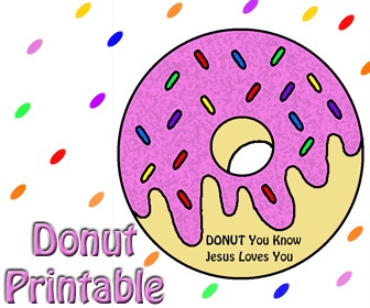Donut Cutout Printable Template- Sunday School Crafts - Childrens Church Crafts For Kids