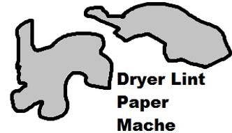 Dryer Lint Paper Mache Recipe