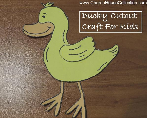 I'm So DUCKY To Have Jesus In My Life Template Cutout Craft for kids in Sunday School.