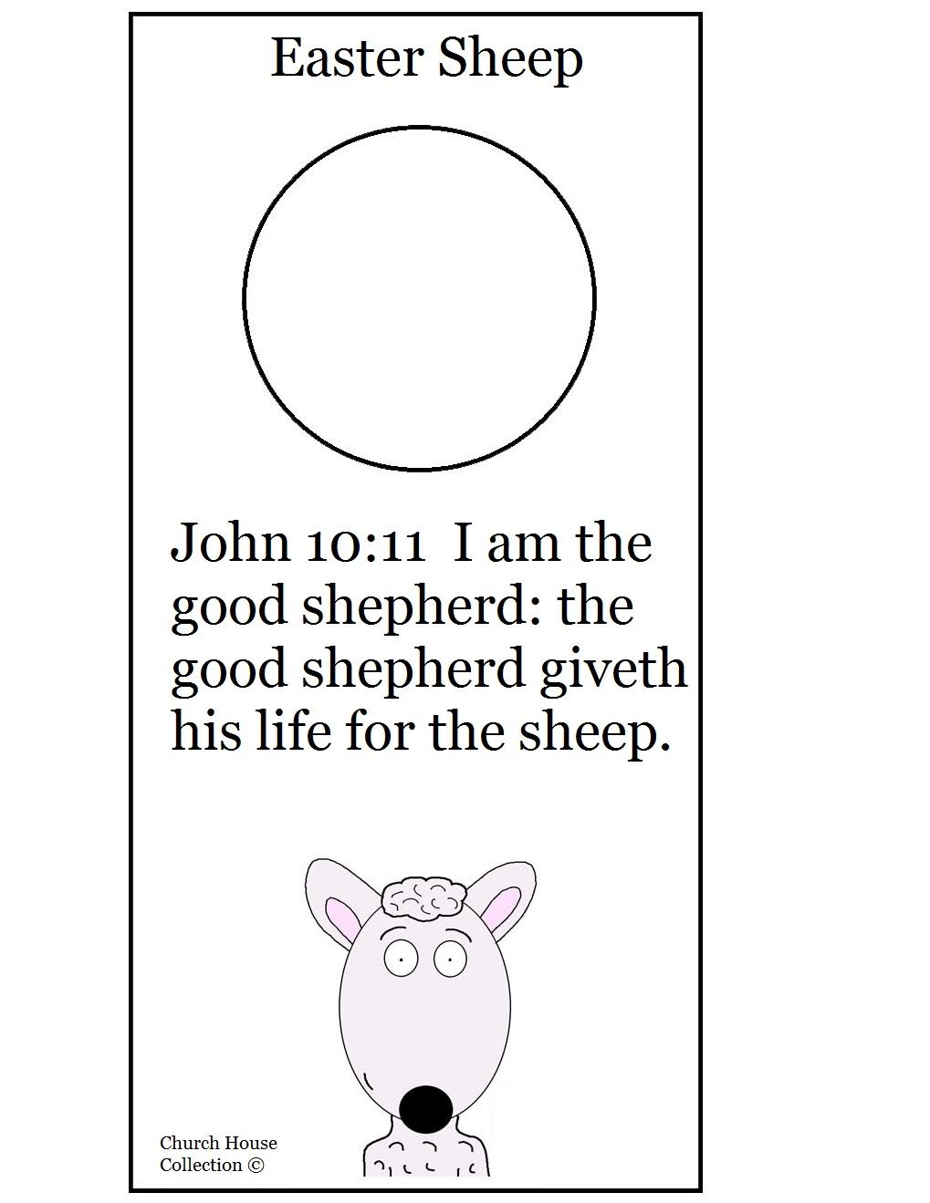 Easter Sheep Doorknob Hanger