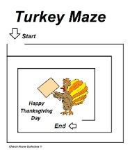 Easy Turkey Maze for Little Kids