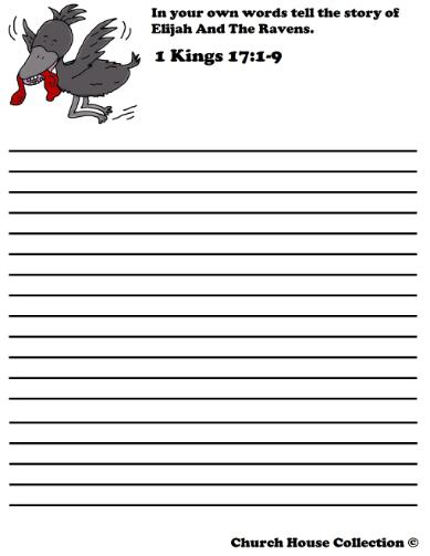 Elijah And The Ravens Worksheets