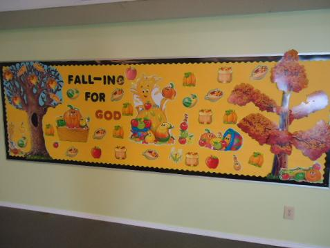 Falling For God Bulletin Board idea