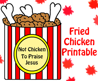Fried Chicken Printable Template Cutout Craft For kids Sunday School Crafts. Not Chicken To Praise Jesus.