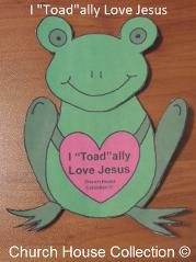Frog Valentine Heart Craft. I