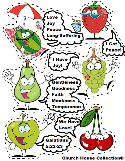 graphic about Printable Fruit of the Spirit known as Fruit Of The Spirit Printable Template Cutout