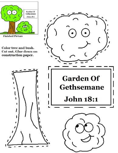 Garden Of Gethsemane Cutout Activity