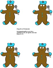 Paper Gingerbread Cutouts- Gingerbread Ornaments For Sunday school