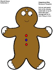 Gingerbread Man Ornament Templates