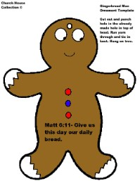 Gingerbread Man Ornament Template Cutouts