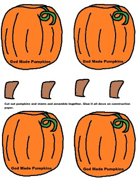 Printable Pumpkin Activity Sheet