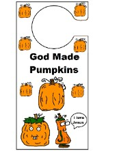 God Made Pumpkins Doorknob Hanger