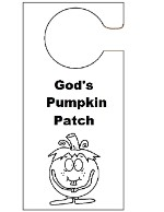 God's Pumpkin Patch Doorknob Hanger