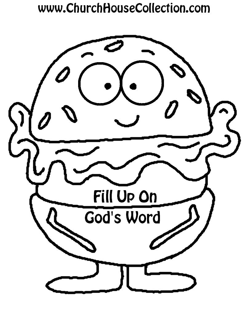 Worksheet Kindergarten School Work hamburger lettuce us pray not romaine silent craft black and white with words