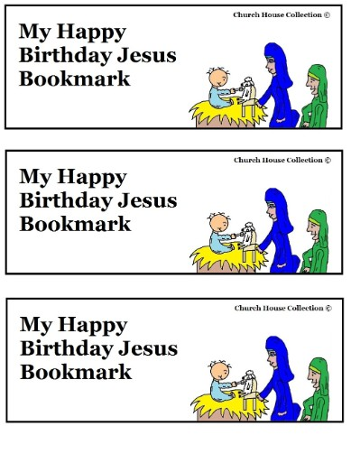 Happy Birthday Jesus Bookmarks