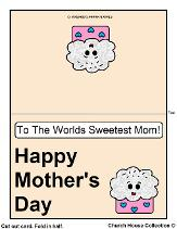 Printable Mother's Day Card  For Kids To Color