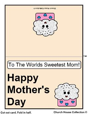 photograph relating to Sweetest Day Cards Printable identified as Printable Moms Working day Card For Youngsters In the direction of Colour