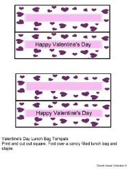 Happy Valentine's Day Template for Valentine's Day Treat Bags Toppers