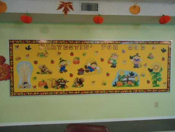 Harvesting For God Bulletin Board Idea