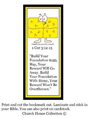 Fall Crafts for Sunday school hay bookmark printable