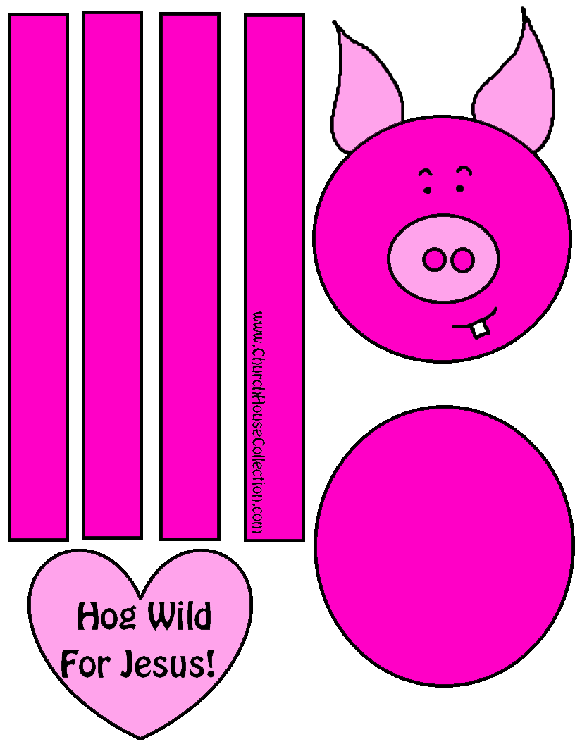 Pig Valentines Day Cutout Craft \