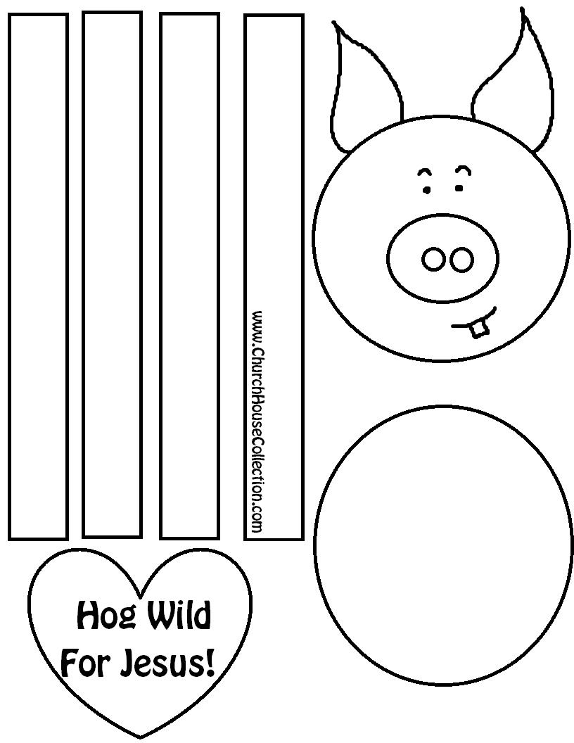 Pig Valentines Day Cutout Craft \