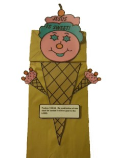 Ice Cream Cone Lunch Bag Craft