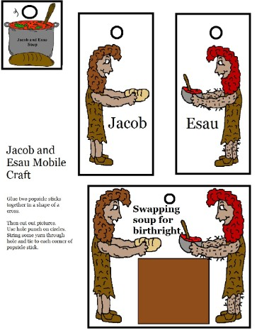 Jacob and Esau Mobile Craft for Sunday school