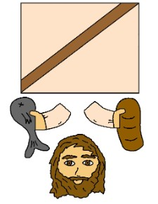 Jesus Fish and Loaves  Toilet Paper Roll Craft
