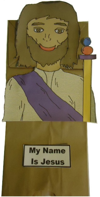 Jesus Paper Lunch Bag Craft